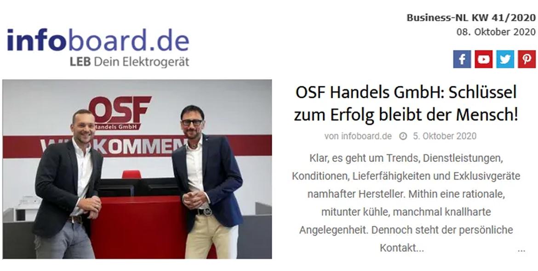 OSF Handels GmbH: Schlüssel zum Erfolg bleibt der Mensch!