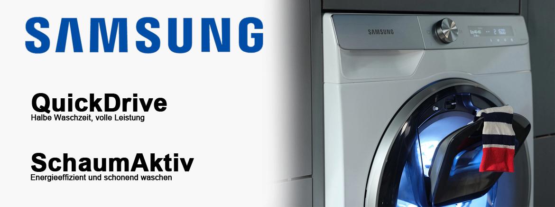 SAMSUNG WW 8 HK 6400 Q/EWG Waschmaschine mit QuickDrive und SchaumAktiv